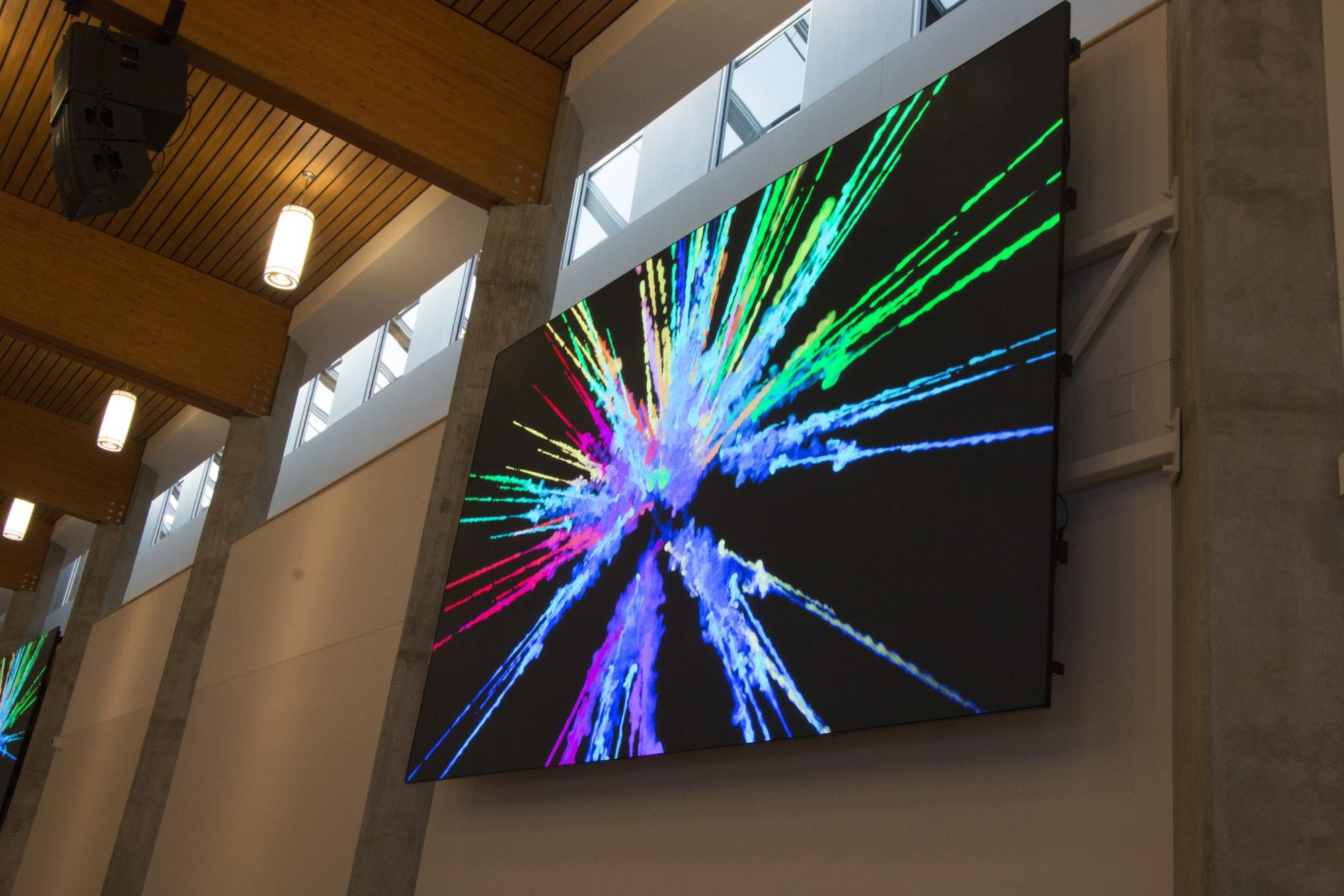 Agora Centre | LIGHTVU | Sherwood Park | Edmonton, AB - media -wall display led