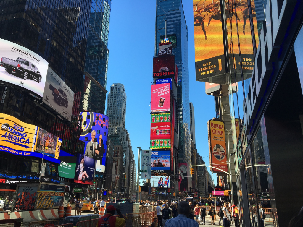LED technology showcased in Times Square, New York