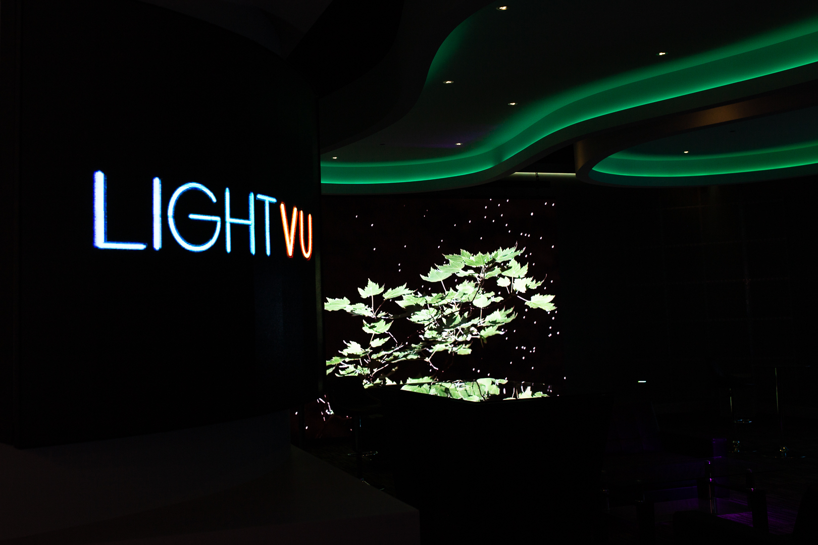 An LED display from LIGHTVU showroom