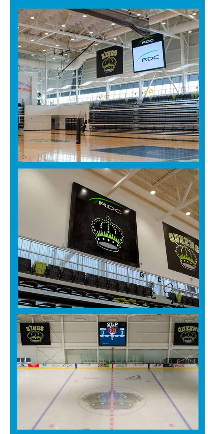 Red-Deer-College-Knights-Queens-Sports-Facility-LED-Digital-Scoreboard-Display-Hockey-Volleyball-Basketball-Alberta-Canada-LIGHTVU