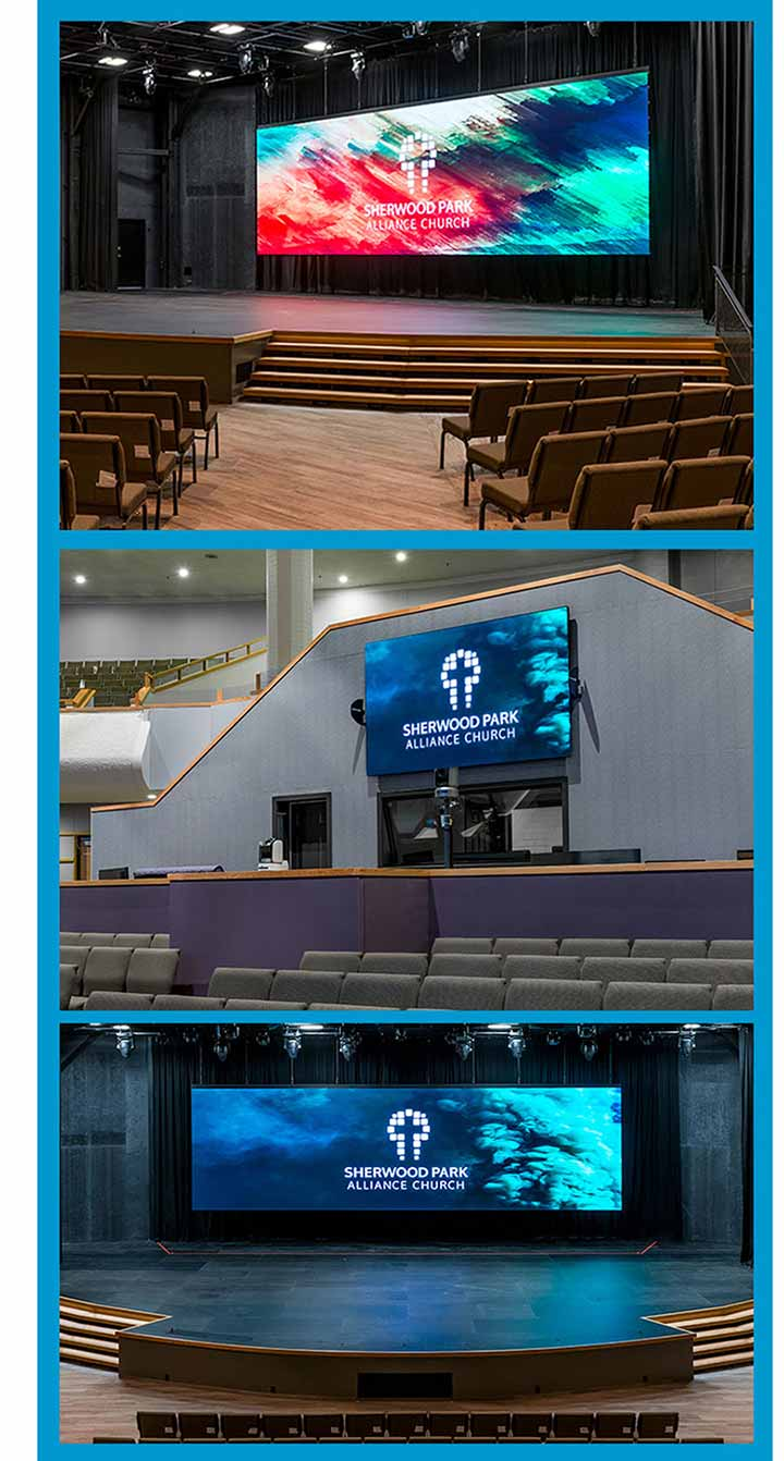 Sherwood-park-alliance-church-led-wall-stage-display-lightvu-canada