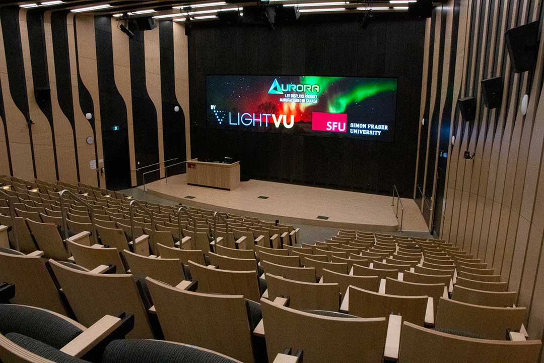 Simon-Fraser-University-Surrey-Campus-Lecture-Hall-LED-Display-Ultra-Wide-Classroom-Digital-Signage-British-Columbia-Canada