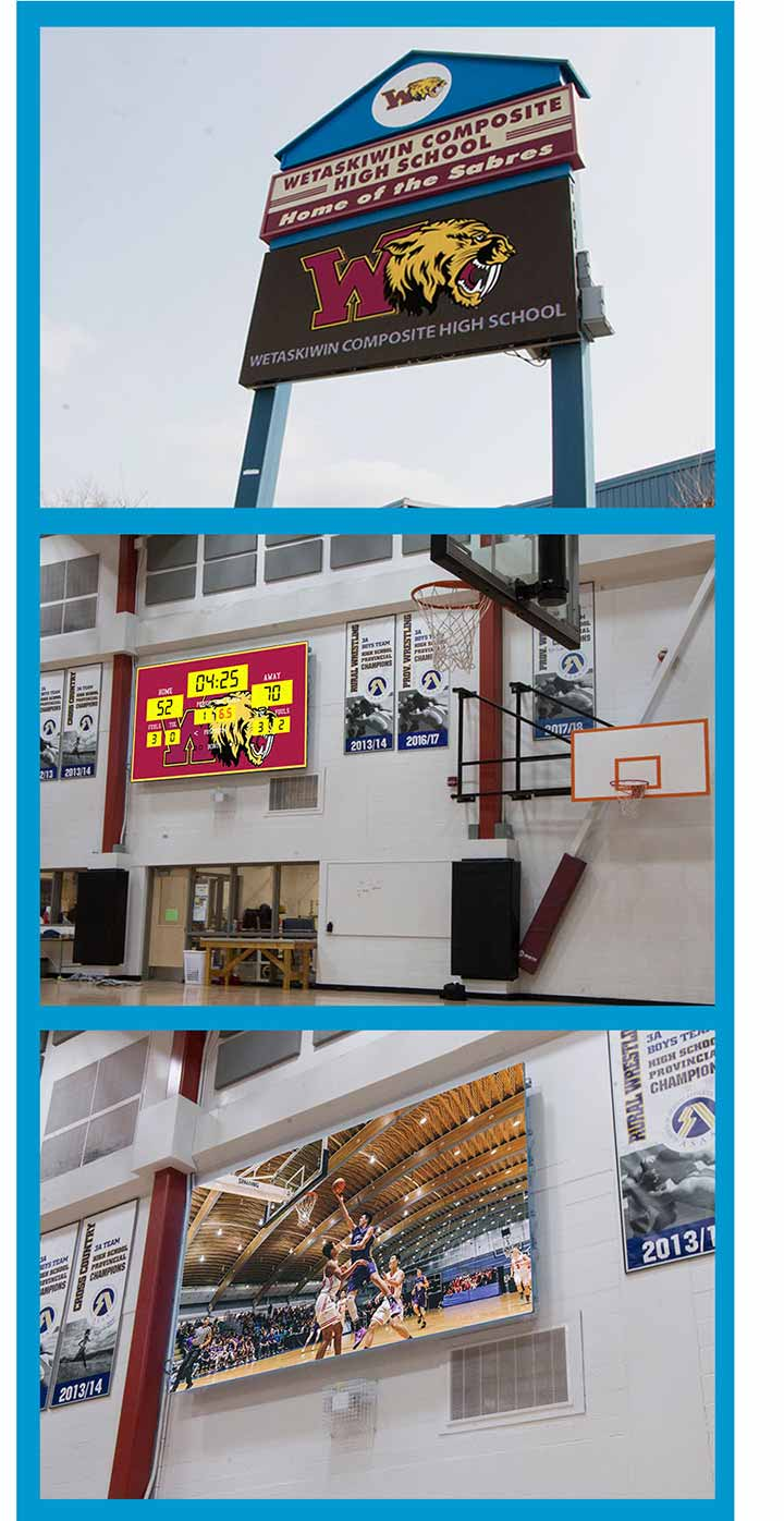 Wetaskiwin-Composite-High-School-Electronic-LED-Scoreboard-Display-Package-Alberta-Canada-LIGHTVU